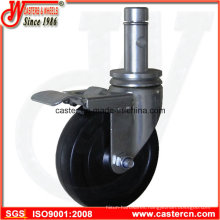 5 Inch Indoor Scaffold Caster with Round Stem and Ring